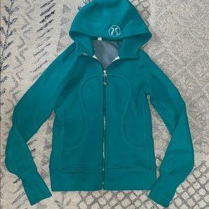 LuLuLemon teal scuba hoodie